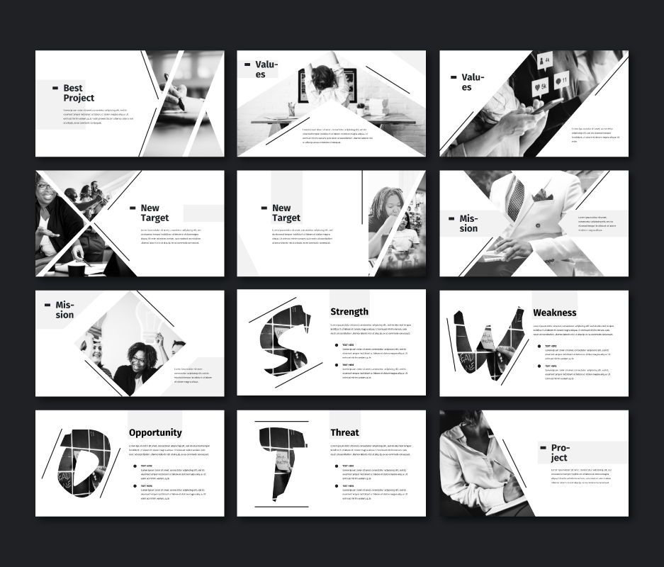 Black White - Business Powerpoint Template, Slide 3, 06719, Business Models — PoweredTemplate.com