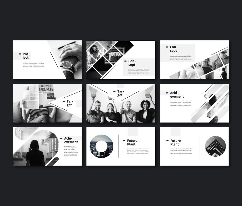 Black White - Business Powerpoint Template, Slide 4, 06719, Business Models — PoweredTemplate.com
