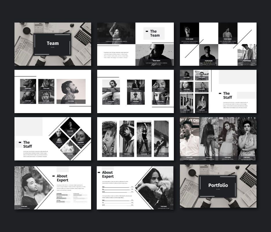 Black White - Business Powerpoint Template, Slide 5, 06719, Business Models — PoweredTemplate.com