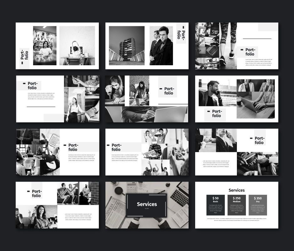 Black White - Business Powerpoint Template, Slide 6, 06719, Business Models — PoweredTemplate.com