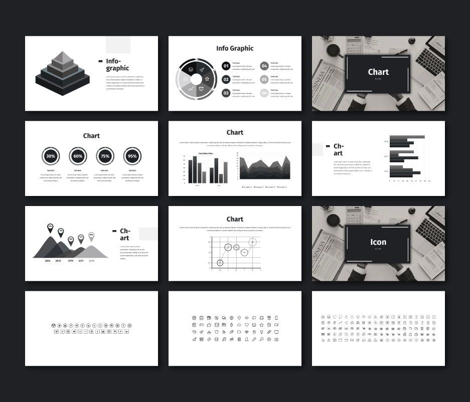 Black White - Business Powerpoint Template, Slide 9, 06719, Business Models — PoweredTemplate.com