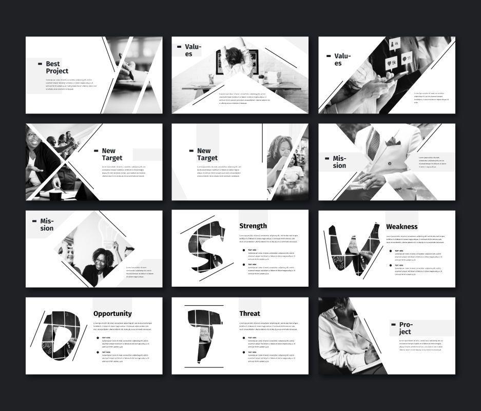 Black White - Business Google Slides Template, Slide 3, 06720, Model Bisnis — PoweredTemplate.com