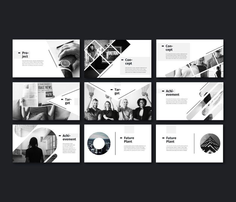 Black White - Business Google Slides Template, Slide 4, 06720, Model Bisnis — PoweredTemplate.com