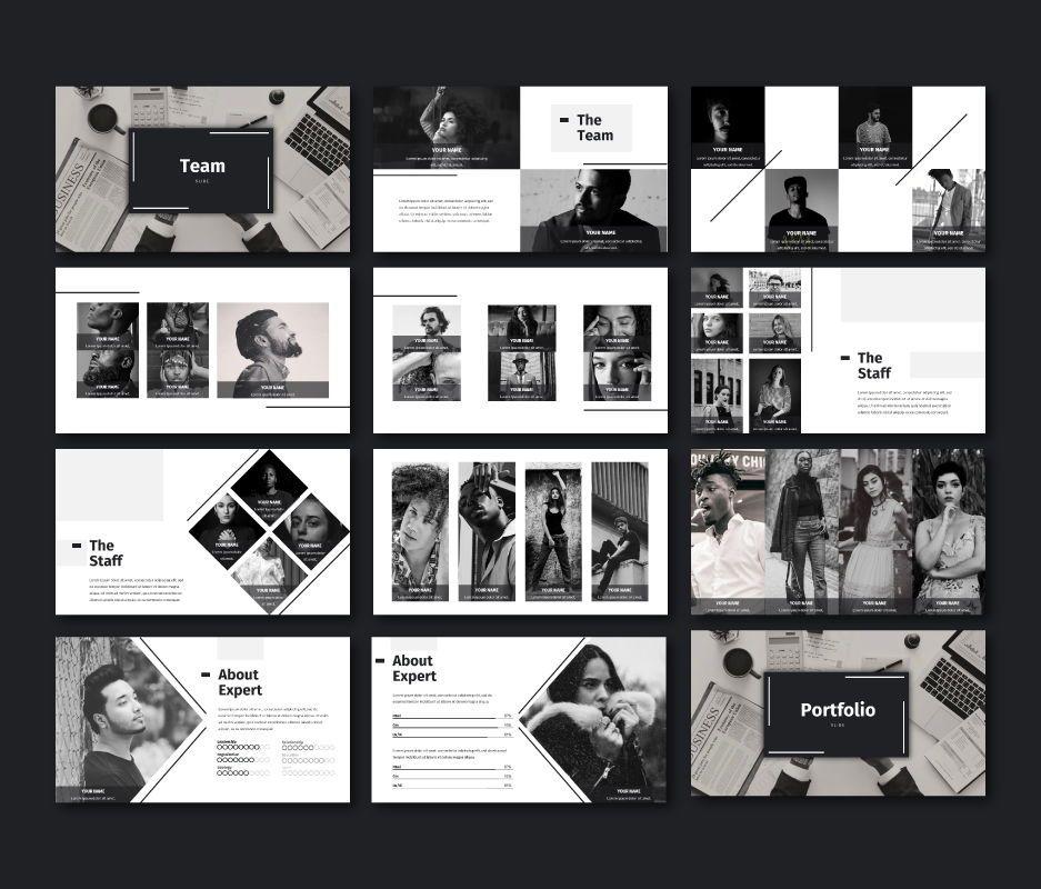 Black White - Business Google Slides Template, Slide 5, 06720, Model Bisnis — PoweredTemplate.com