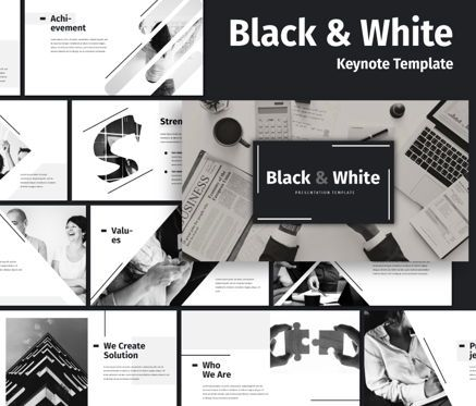 Business Models: Black White - Business Keynote Template #06721