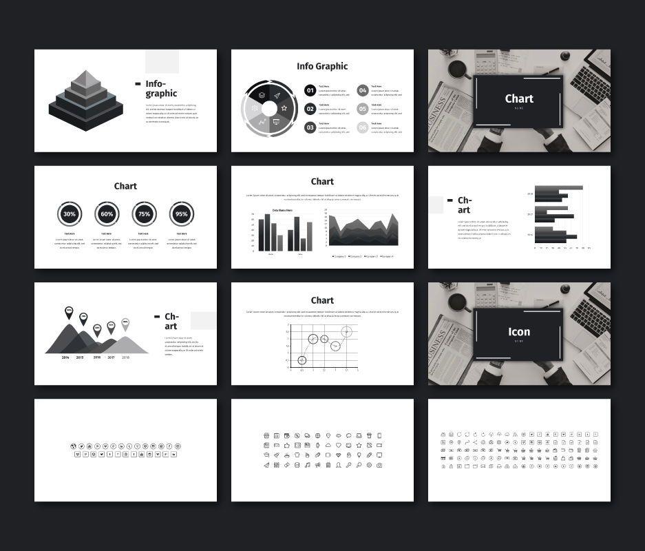 Black White - Business Keynote Template, Slide 9, 06721, Business Models — PoweredTemplate.com