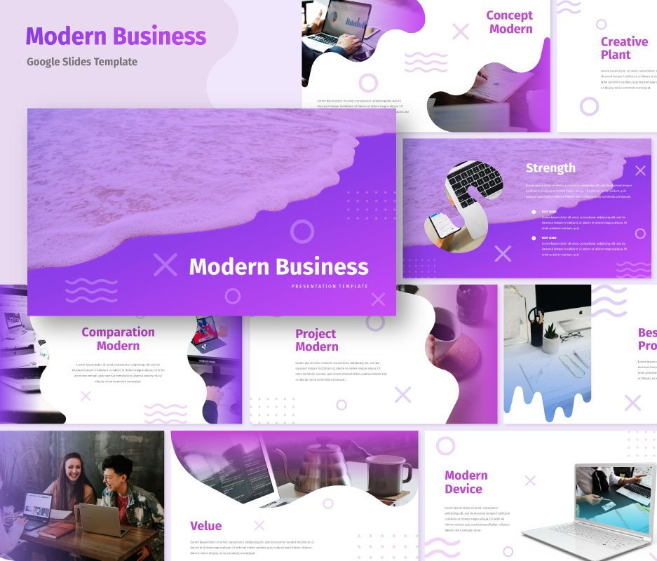 Modern - Business Google Slides Template, 06722, Business Models — PoweredTemplate.com