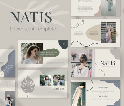 Business Models: Natis Powerpoint Template #06724