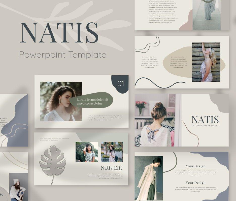 Natis Powerpoint Template, 06724, Business Models — PoweredTemplate.com