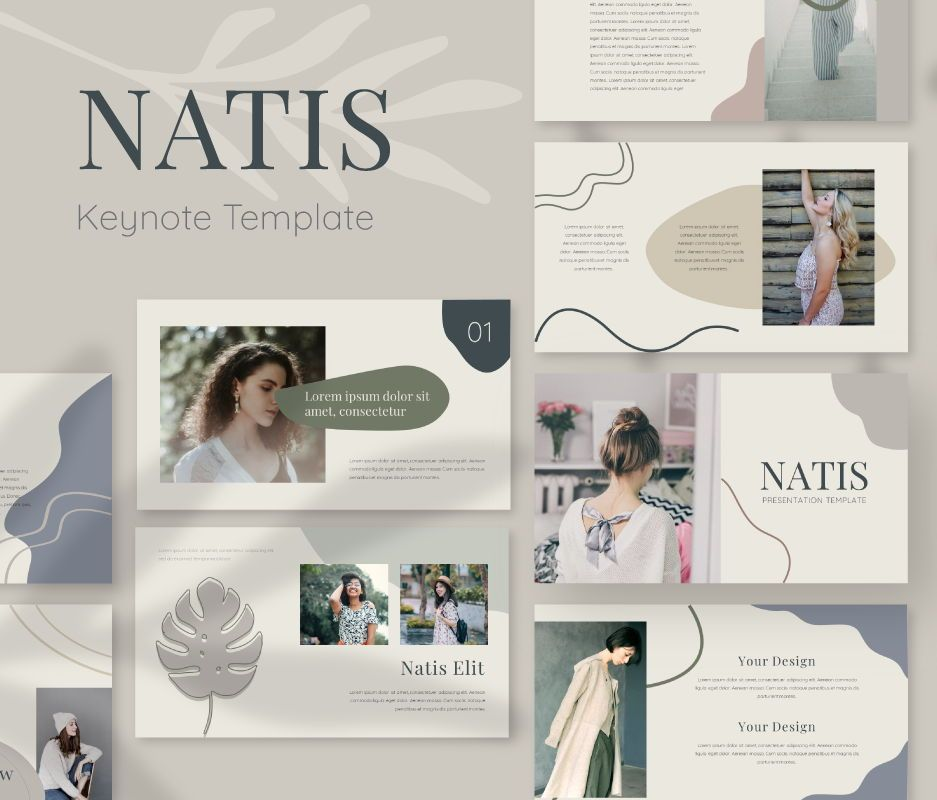Natis Keynote Template, 06726, Business Models — PoweredTemplate.com