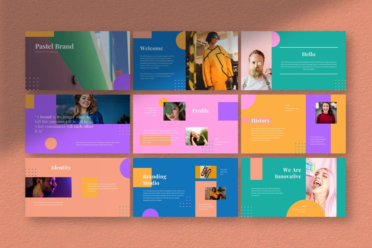 Pastel Brand Powerpoint Template, Slide 3, 06727, Business Models — PoweredTemplate.com