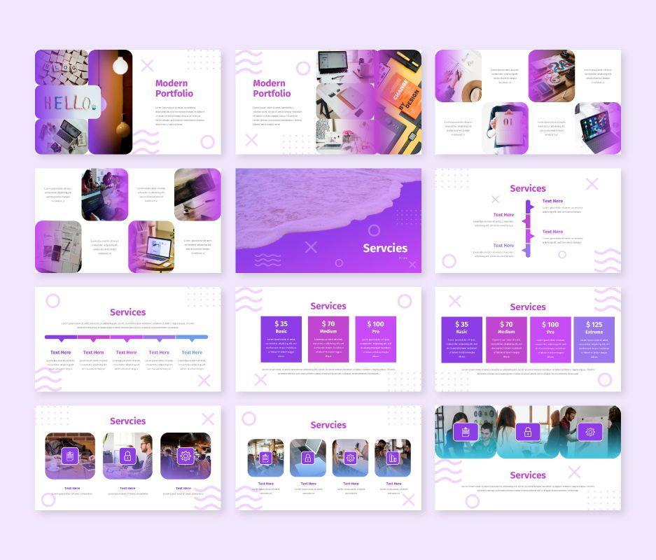Modern - Business Powerpoint Template, Slide 6, 06729, Business Models — PoweredTemplate.com