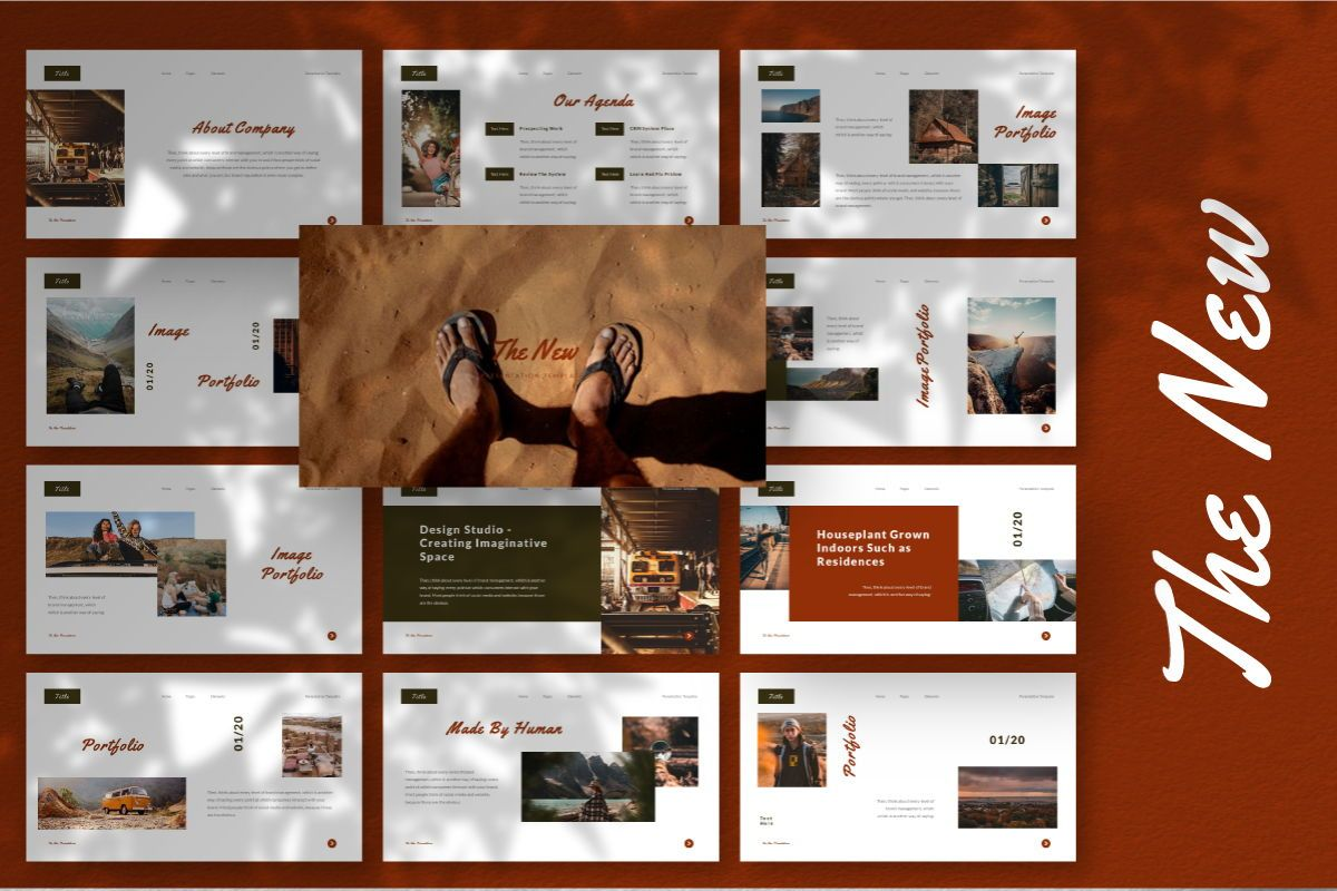 The New Google Slides Template, 06732, Business Models — PoweredTemplate.com