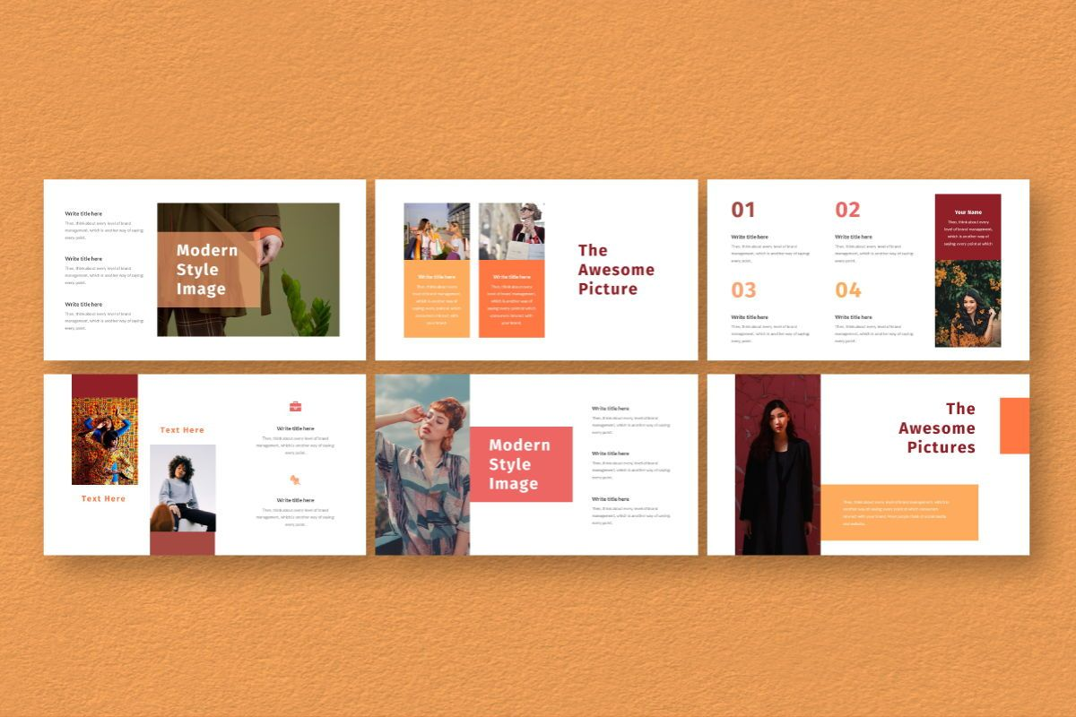 Hot Color Powerpoint Template, Slide 4, 06734, Business Models — PoweredTemplate.com
