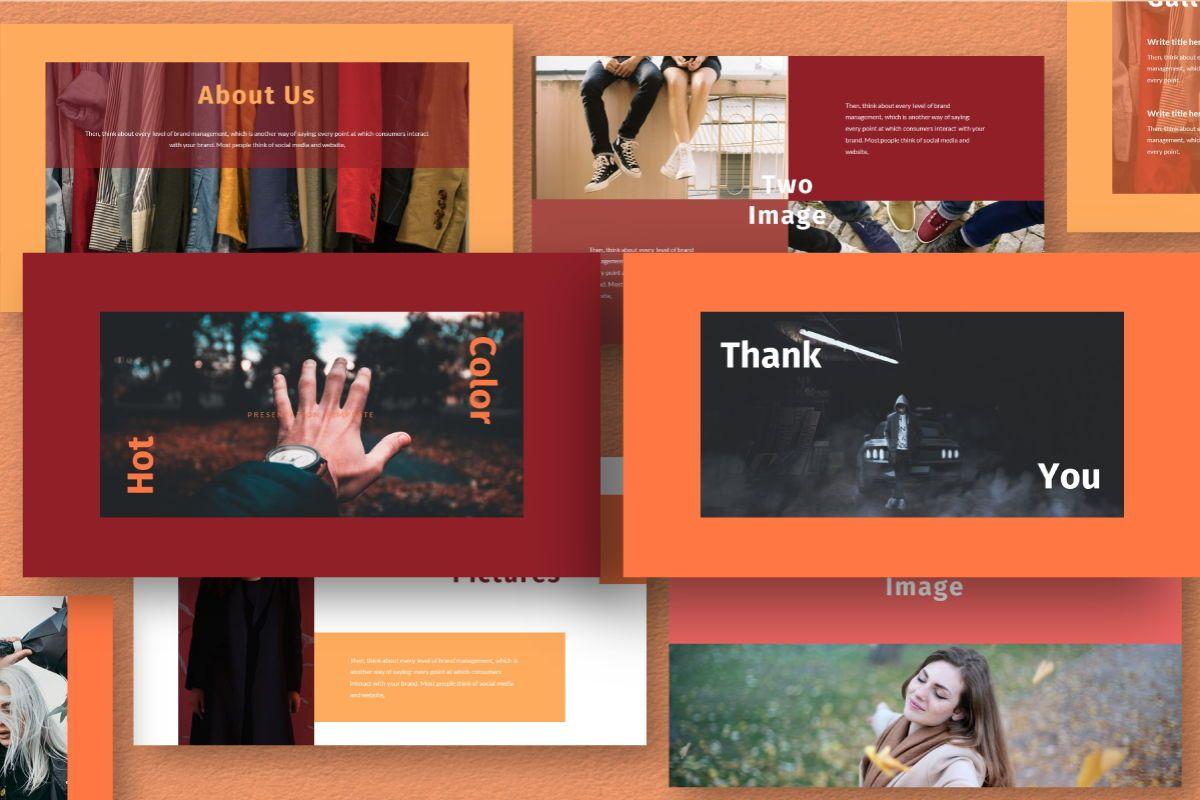 Hot Color Google Slides Template, Slide 10, 06735, Business Models — PoweredTemplate.com