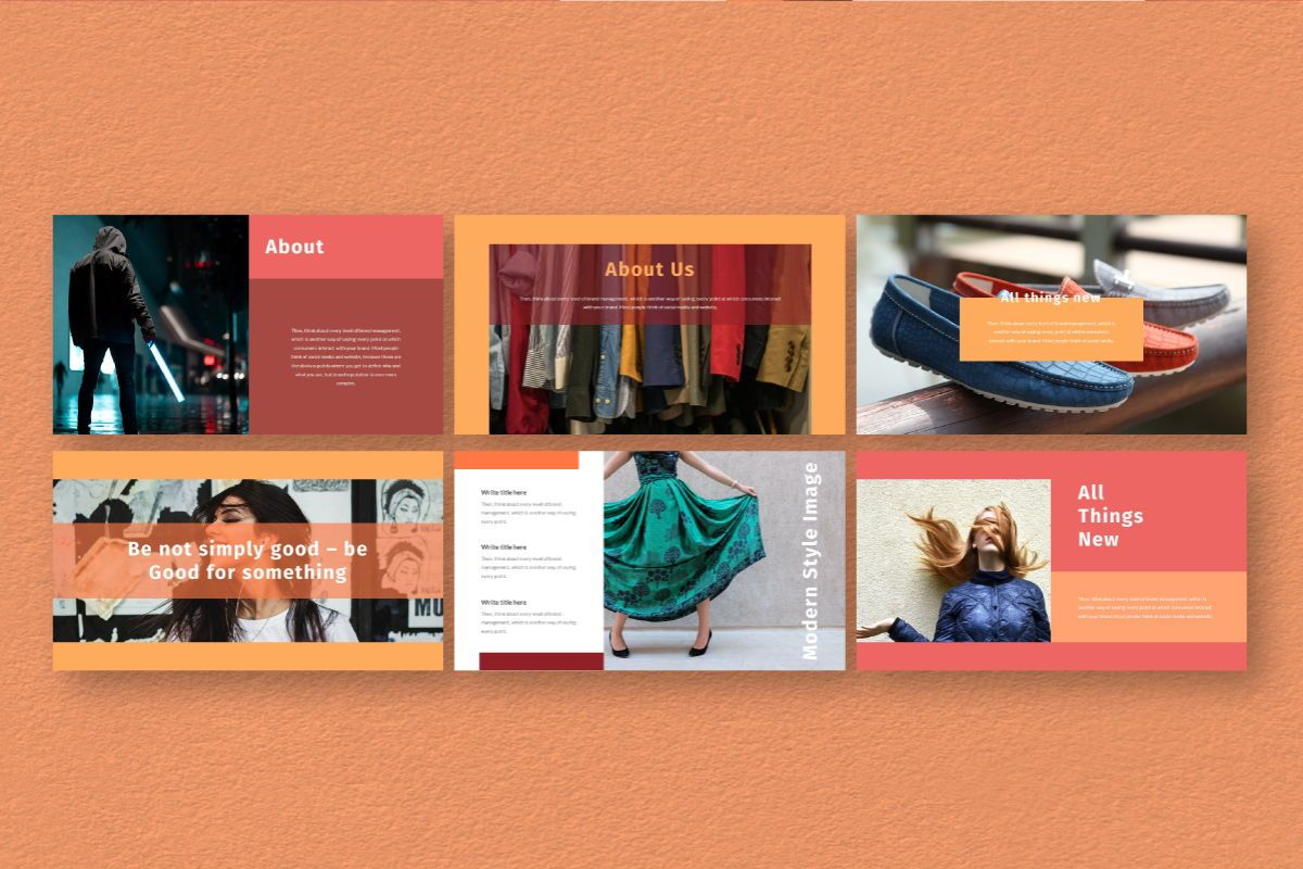 Hot Color Google Slides Template, Slide 3, 06735, Business Models — PoweredTemplate.com