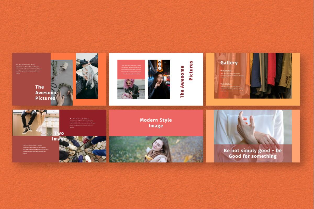 Hot Color Google Slides Template, Slide 5, 06735, Business Models — PoweredTemplate.com