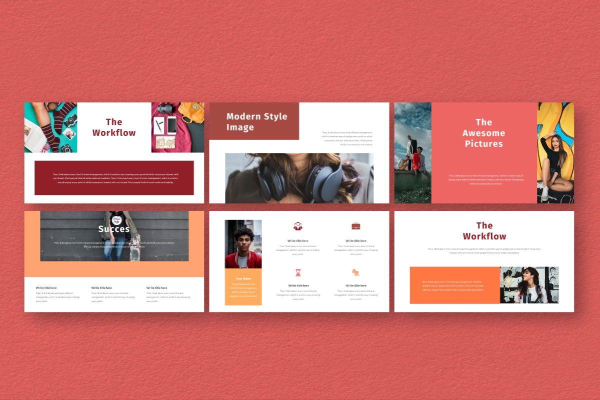 Hot Color Google Slides Template, Slide 6, 06735, Business Models — PoweredTemplate.com
