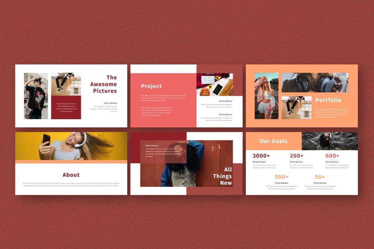Hot Color Google Slides Template, Slide 7, 06735, Business Models — PoweredTemplate.com