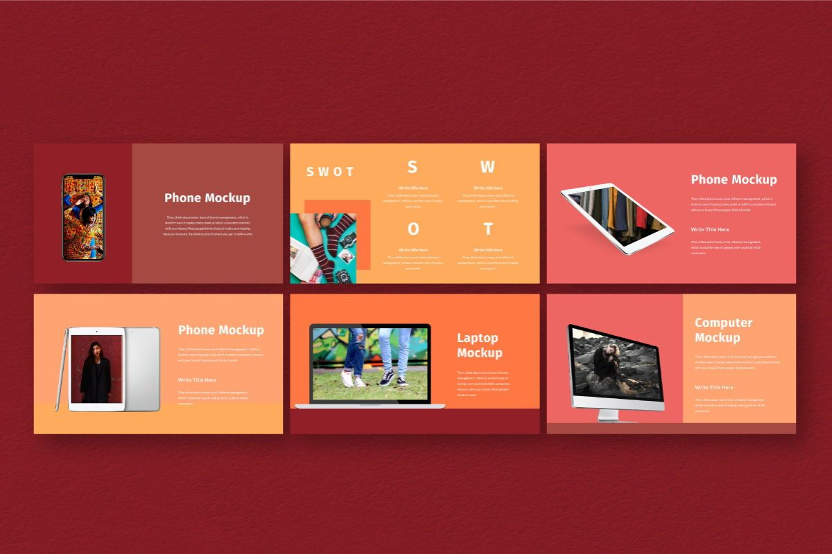 Hot Color Google Slides Template, Slide 8, 06735, Business Models — PoweredTemplate.com