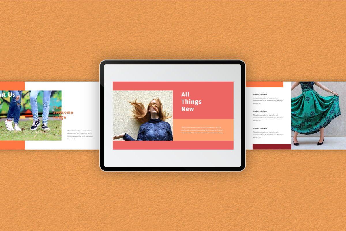 Hot Color Google Slides Template, Slide 9, 06735, Business Models — PoweredTemplate.com