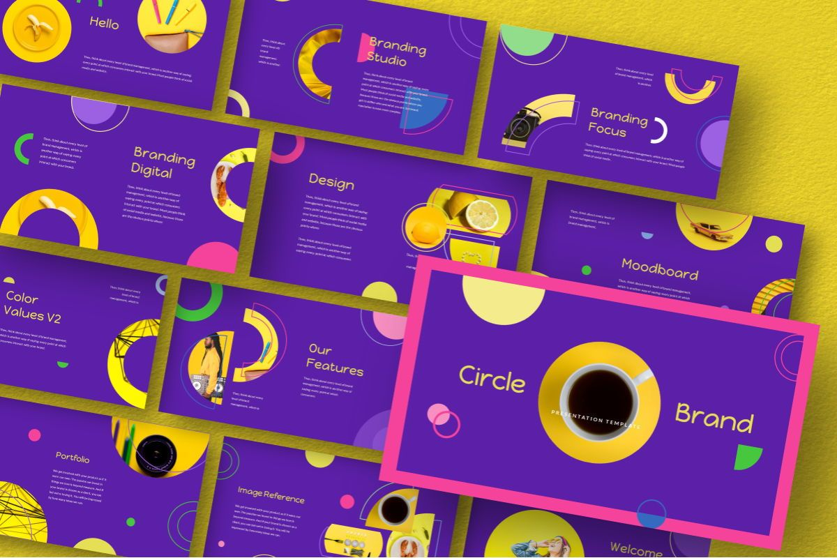 Circle Brand Google Slides Template, Slide 10, 06738, Business Models — PoweredTemplate.com