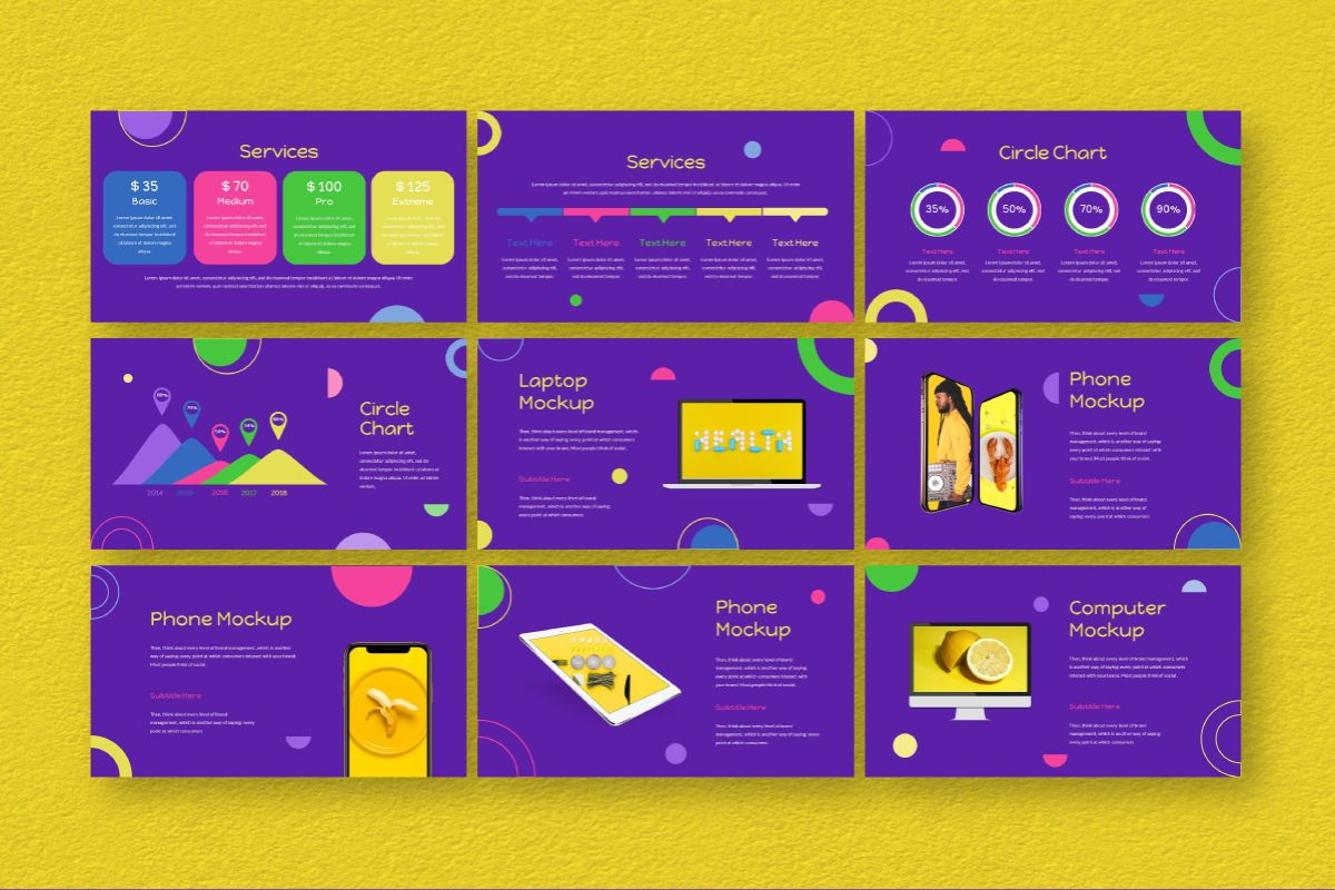 Circle Brand Google Slides Template, Slide 8, 06738, Business Models — PoweredTemplate.com