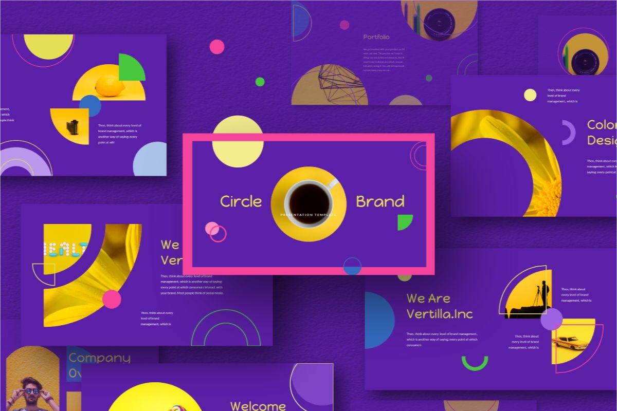Circle Brand Keynote Template, 06739, Business Models — PoweredTemplate.com