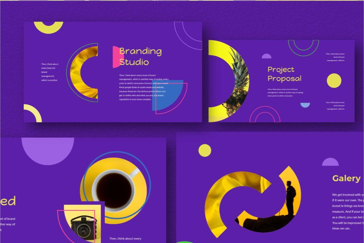 Circle Brand Keynote Template, Slide 3, 06739, Business Models — PoweredTemplate.com