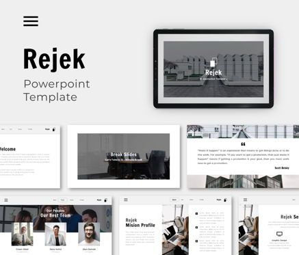 Business Models: Rejek Business Powerpoint Template #06740