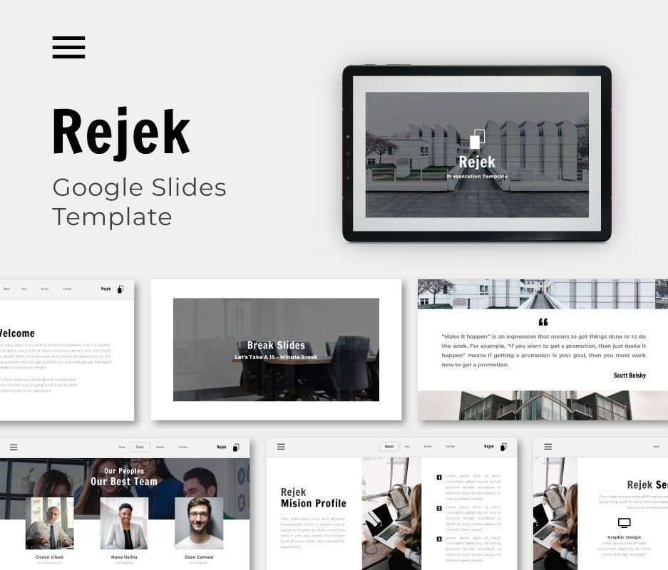 Rejek Business Google Slides Template, 06741, Business Models — PoweredTemplate.com