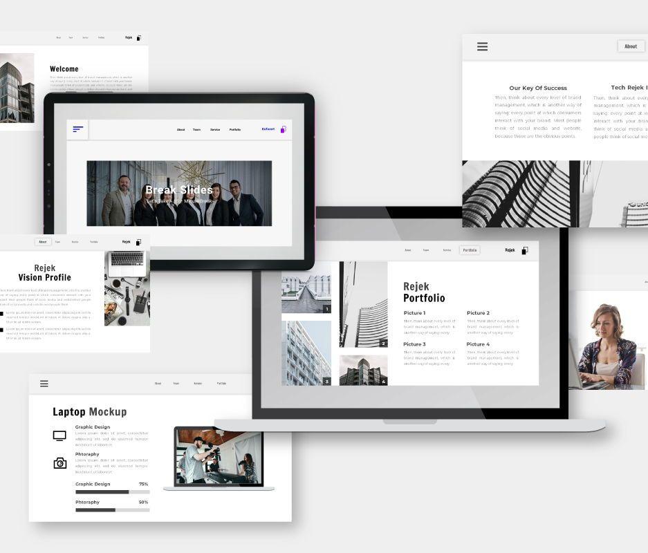 Rejek Business Google Slides Template, Slide 3, 06741, Business Models — PoweredTemplate.com