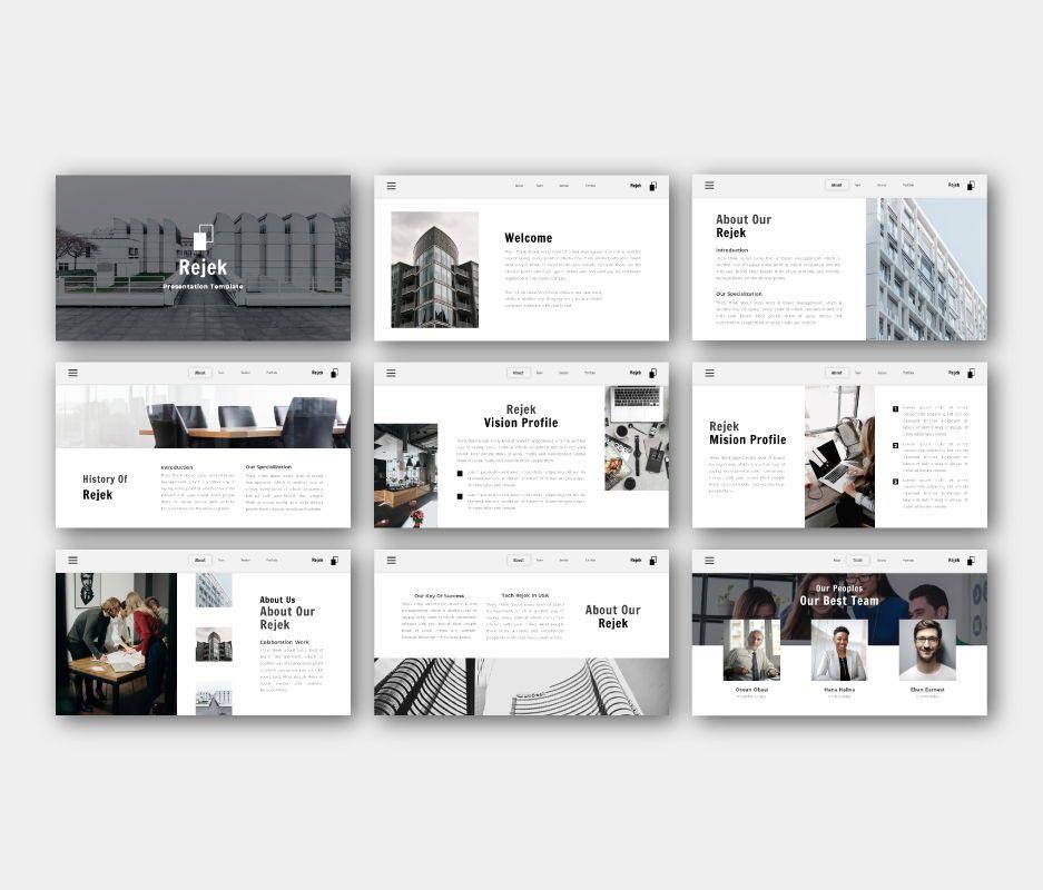 Rejek Business Google Slides Template, Slide 4, 06741, Business Models — PoweredTemplate.com