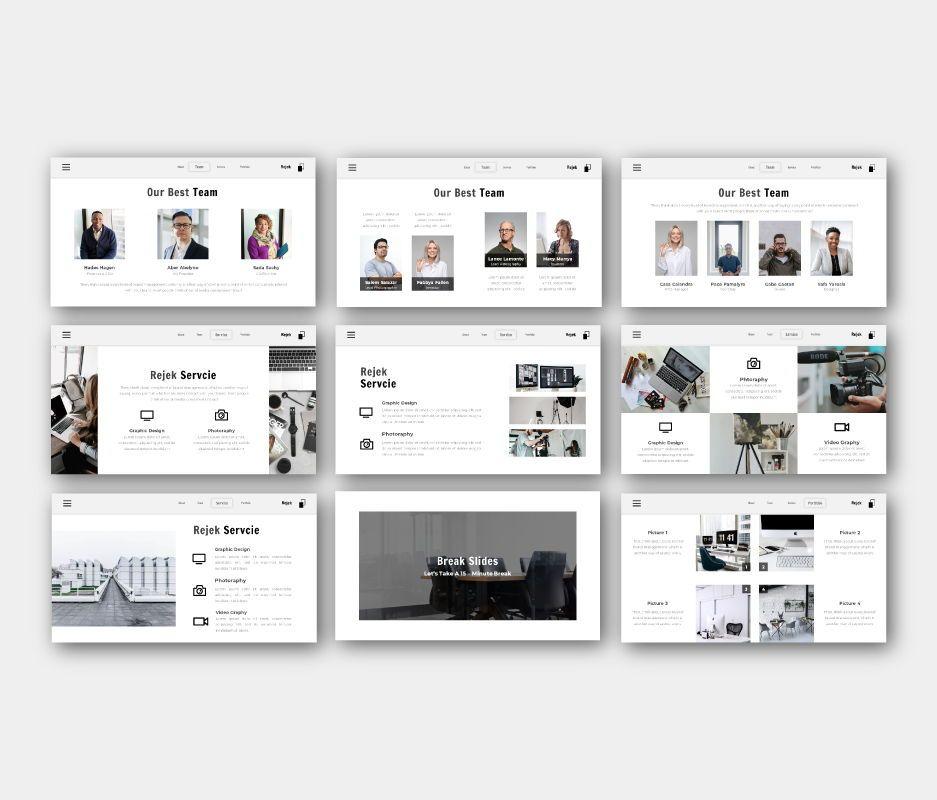 Rejek Business Google Slides Template, Slide 5, 06741, Business Models — PoweredTemplate.com