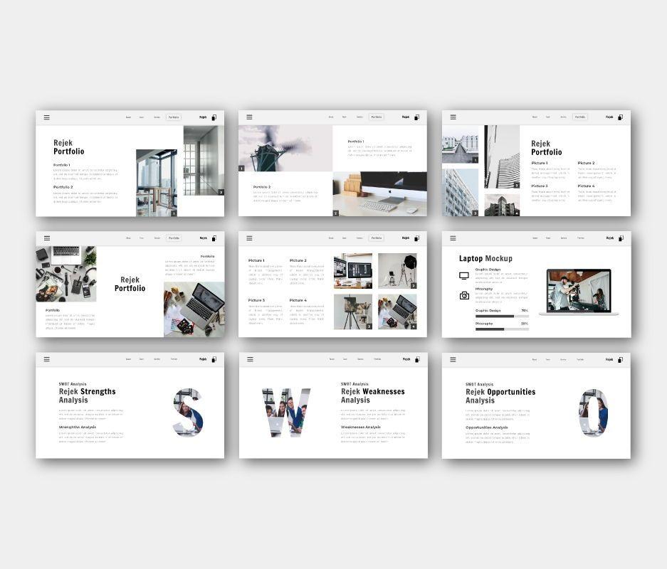 Rejek Business Google Slides Template, Slide 6, 06741, Business Models — PoweredTemplate.com
