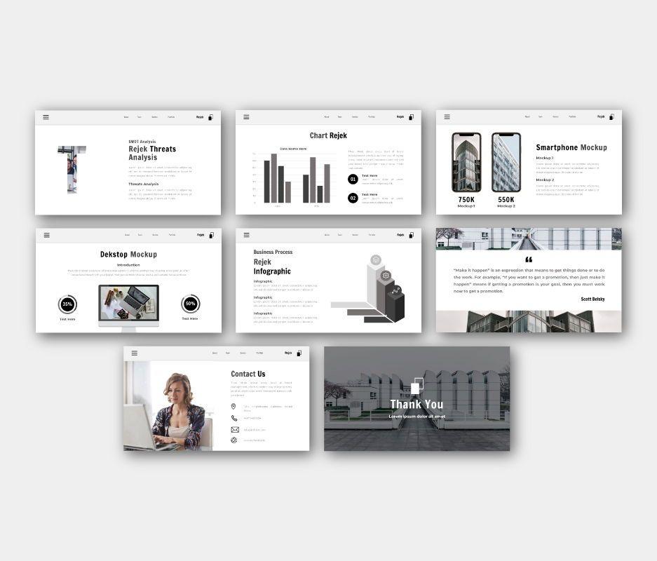 Rejek Business Google Slides Template, Slide 7, 06741, Business Models — PoweredTemplate.com