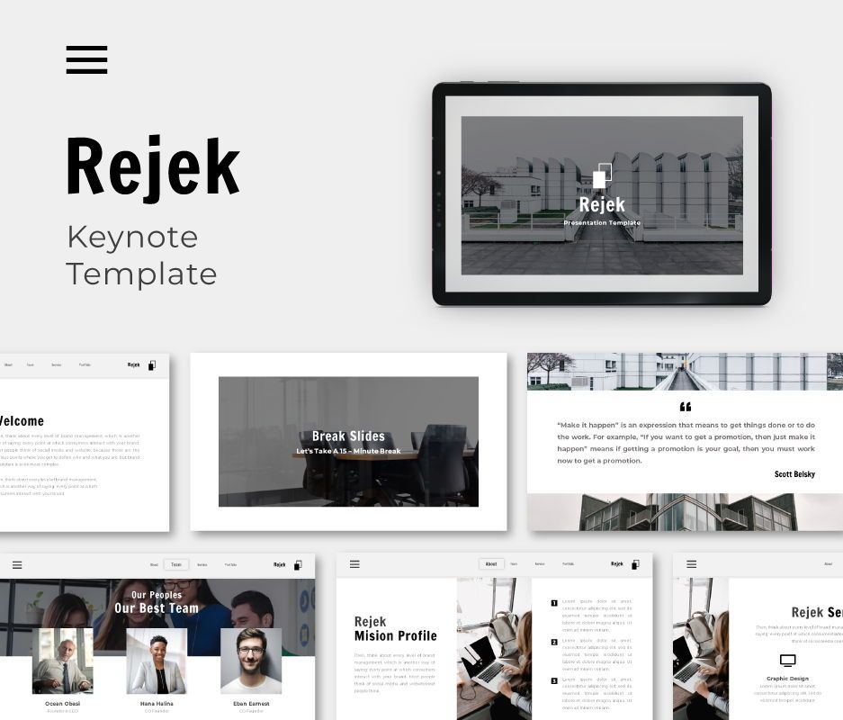 Rejek Business Keynote Template, 06742, Business Models — PoweredTemplate.com