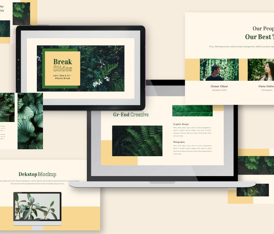 Gr-end Creative Google Slides Template, Slide 3, 06744, Business Models — PoweredTemplate.com