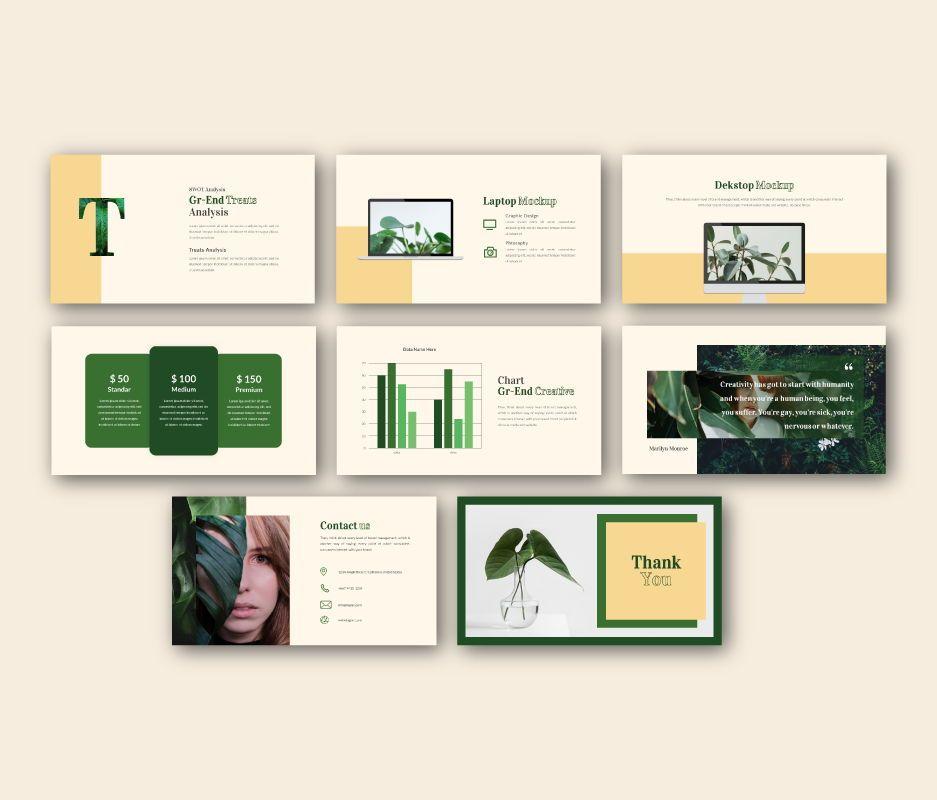 Gr-end Creative Google Slides Template, Slide 8, 06744, Business Models — PoweredTemplate.com