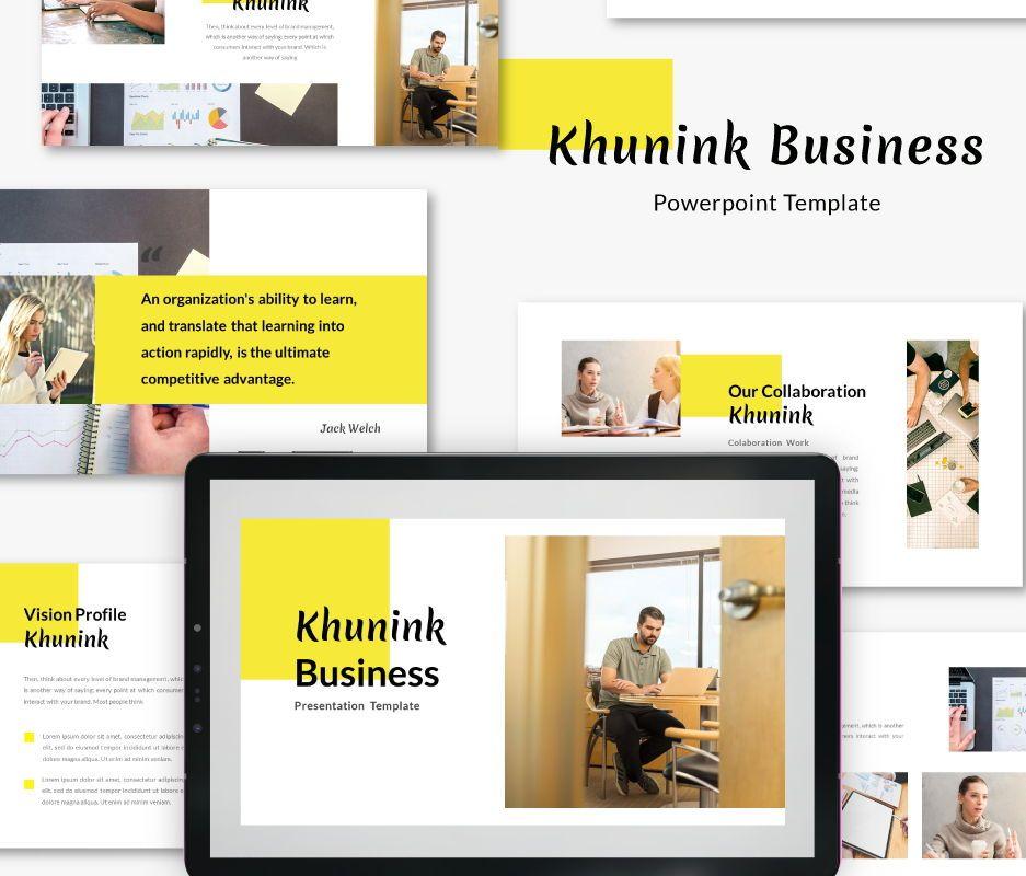 Khunink Business Powerpoint Template, 06746, Business Models — PoweredTemplate.com