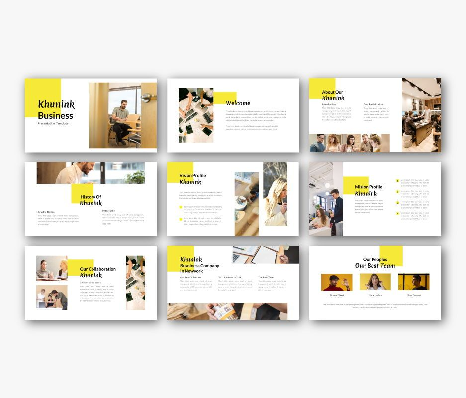 Khunink Business Powerpoint Template, Slide 4, 06746, Business Models — PoweredTemplate.com