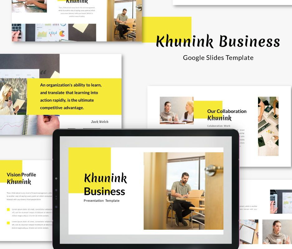 Khunink Business Google Slides Template, 06747, Business Models — PoweredTemplate.com