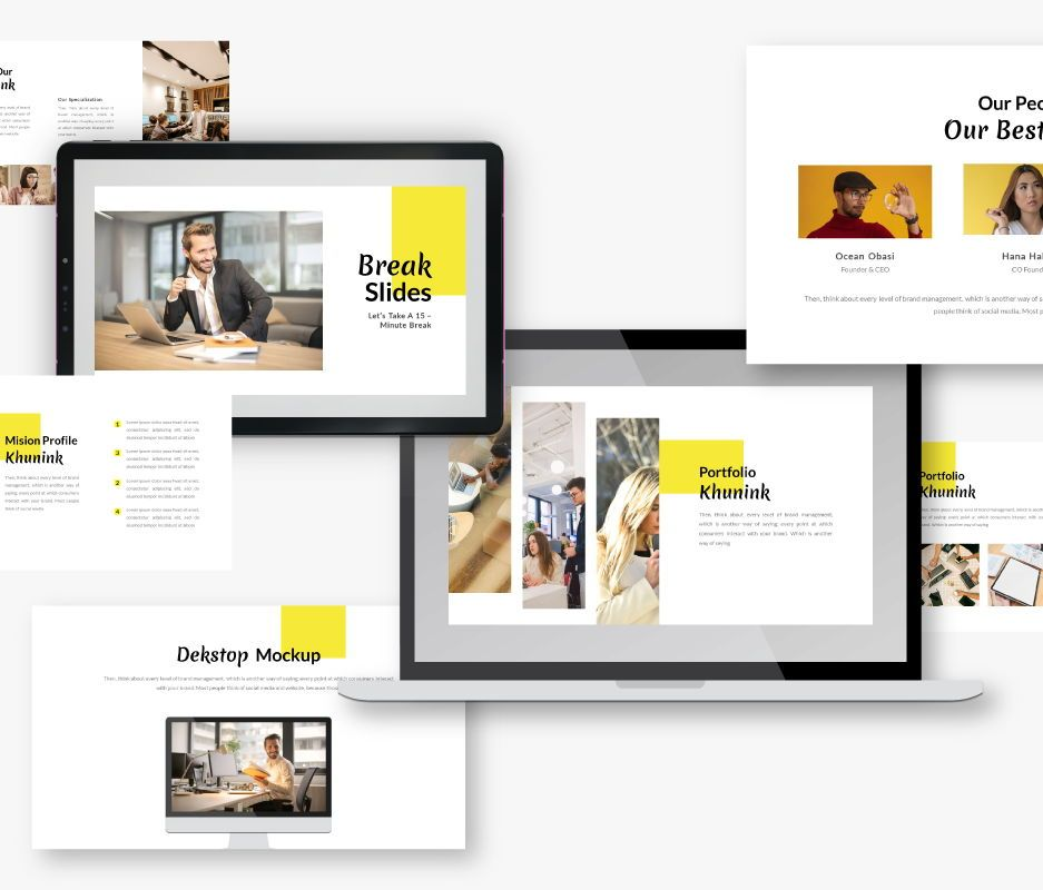 Khunink Business Google Slides Template, Slide 3, 06747, Business Models — PoweredTemplate.com