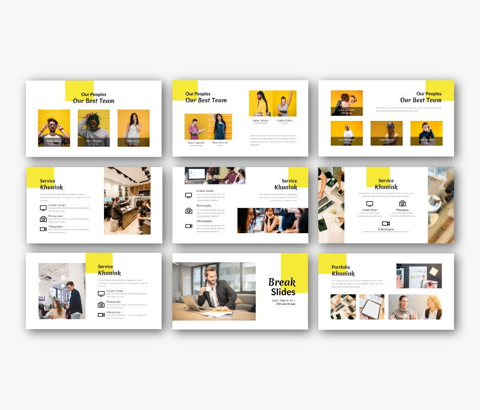 Khunink Business Google Slides Template, Slide 5, 06747, Business Models — PoweredTemplate.com