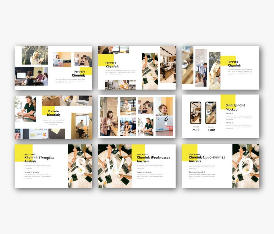 Khunink Business Google Slides Template, Slide 6, 06747, Business Models — PoweredTemplate.com