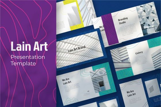 Business Models: Lain Art Brand Powerpoint Template #06749