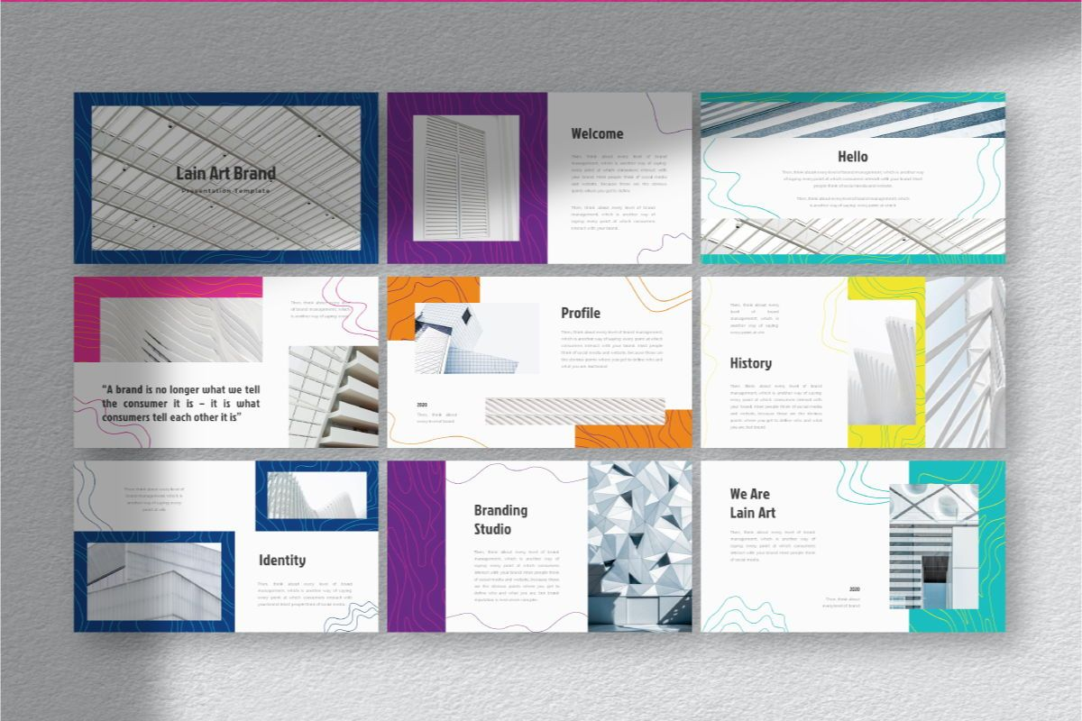 Lain Art Brand Google Slides Template, Slide 4, 06750, Business Models — PoweredTemplate.com