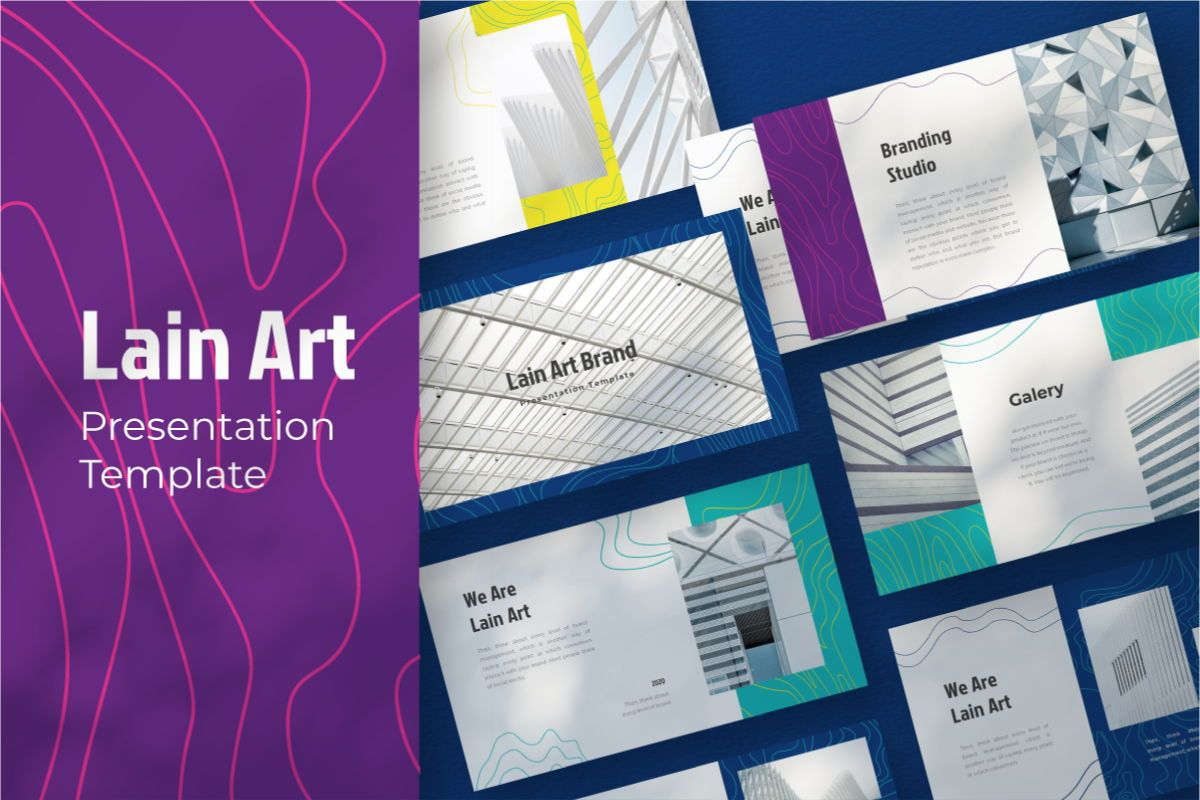 Lain Art Brand Keynote Template, 06751, Business Models — PoweredTemplate.com