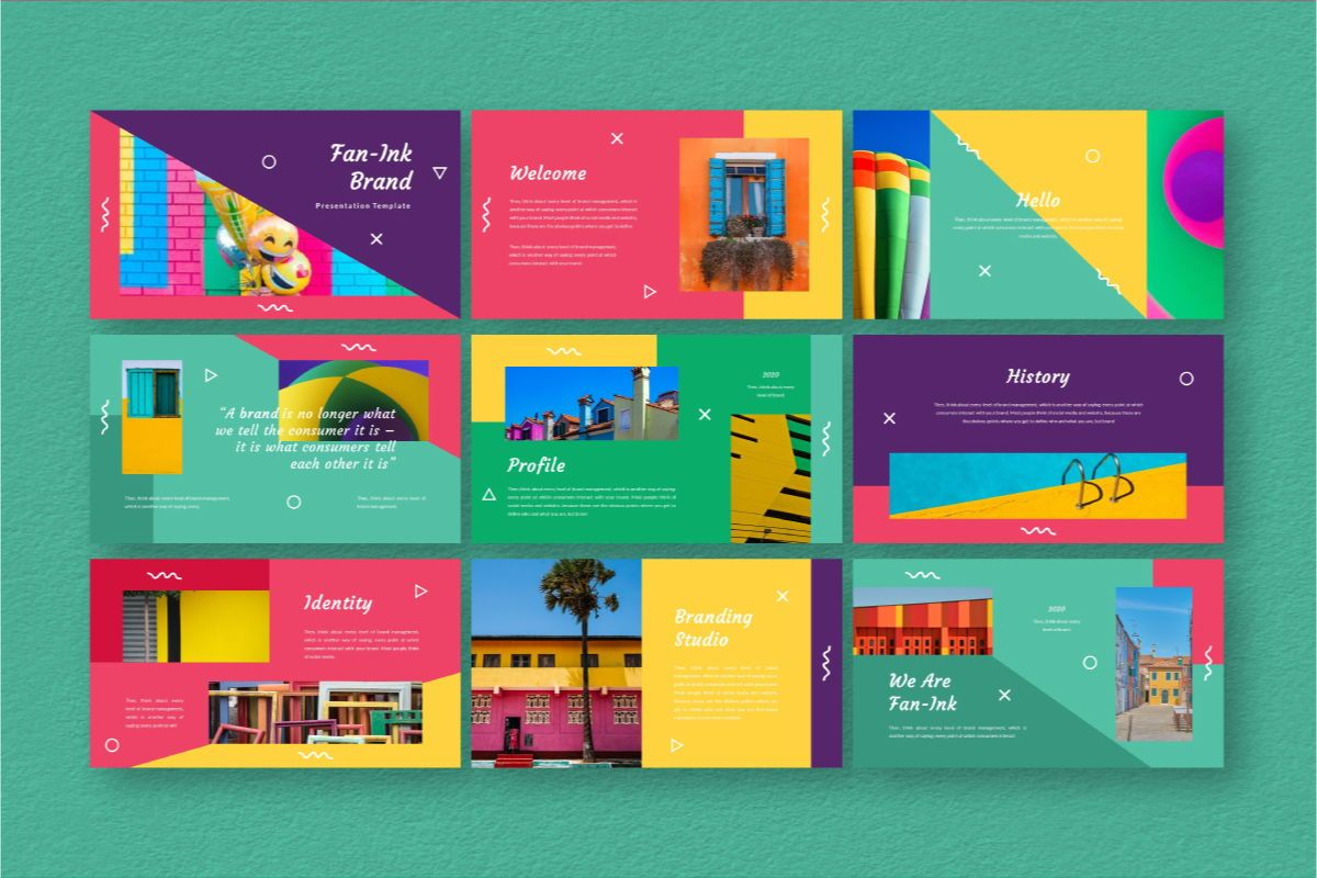 Fan-Ink Brand Google Slides Template, Slide 3, 06753, Business Models — PoweredTemplate.com