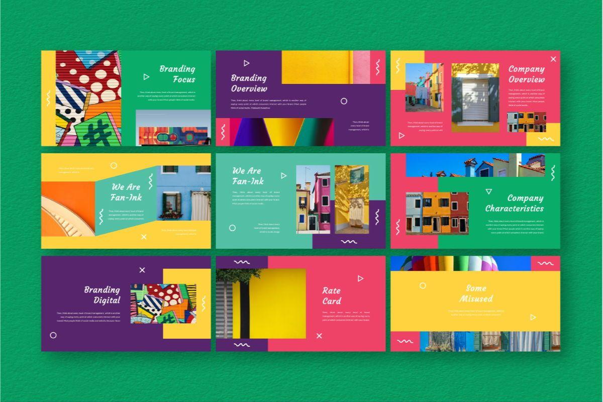 Fan-Ink Brand Google Slides Template, Slide 4, 06753, Business Models — PoweredTemplate.com